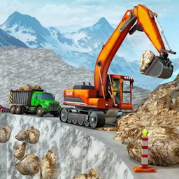 Image of Snow Offroad Construction Excavator