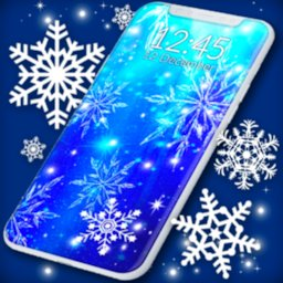 Image of Snowflakes Live Wallpaper ❄️ Snow Stars Wallpapers