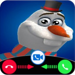 Image of snowman video call and chat simulation game