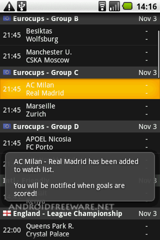 soccer livescores android 2 - Live Soccer Scores And Sport Results Livescore Com