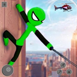 Image of Spider Stickman Rope Hero Grand City Crime