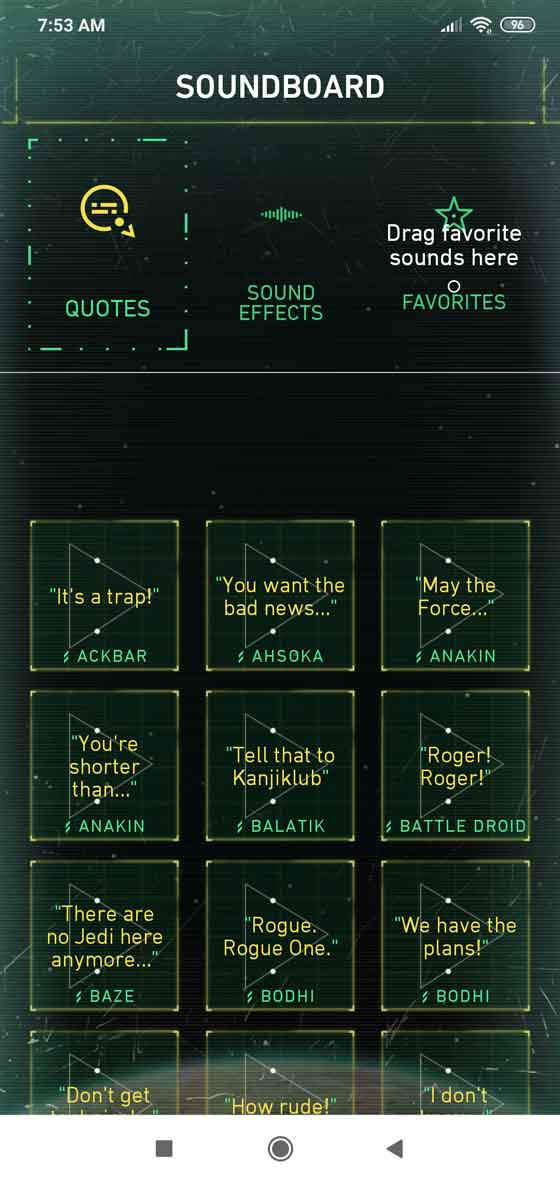 Sound effects and quotes