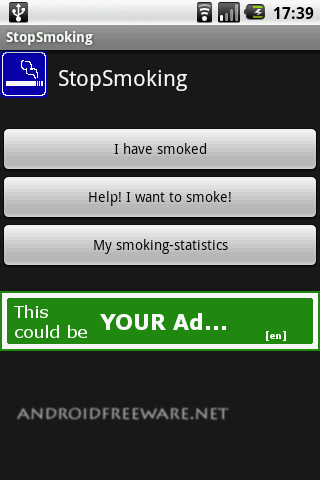 Application to help you stop smoking