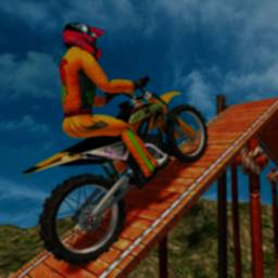 Image of Stunt Bike Racing in the Sky