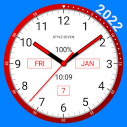 Image of Color Analog Clock-7
