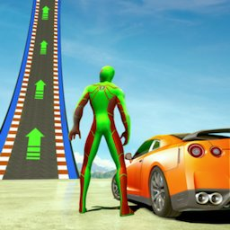 Image of Superheroes GT Racing Car Stunts