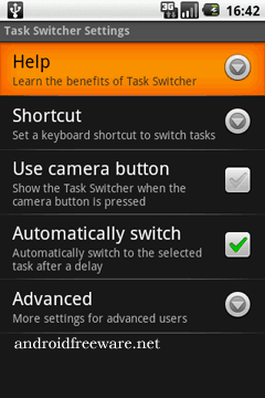 Quickly move between your recent applications using the keyboard or camera button