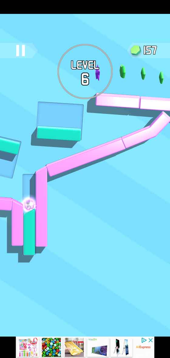 Tricky Taps avoid obstacles