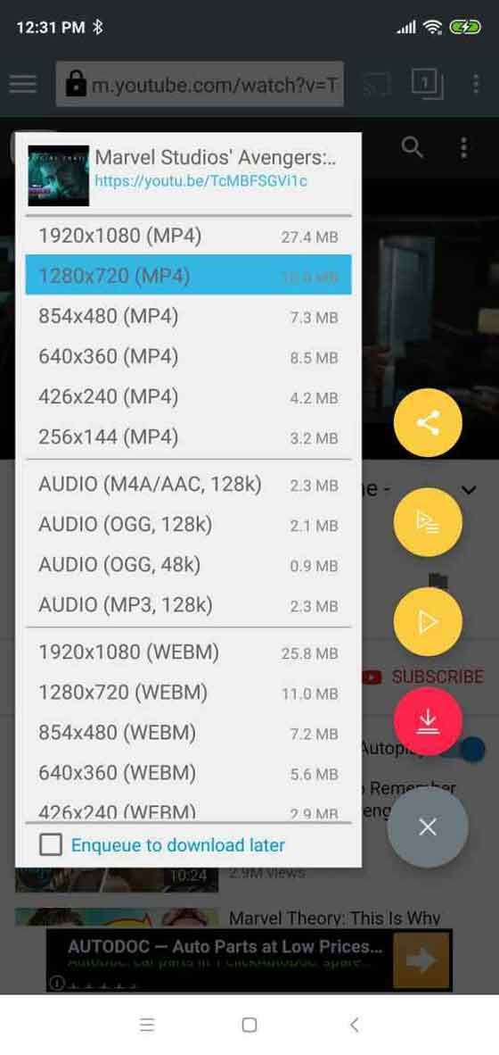 TubeMate: YouTube Downloader For Android
