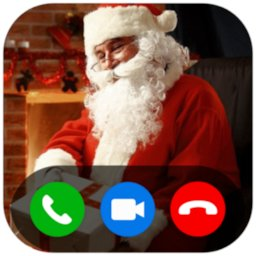 Image of Video Call from Santa Claus (Simulated)