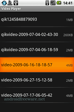 Play any MPEG4, 3GPP with H.264 or H.263 on your Android phone