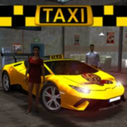 Image of Yellow Car Taxi Simulator Driving