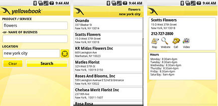 Yellowbook.com�s free mobile application helps you find local businesses and more while you�re on the go.