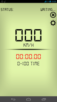 0-100 GPS acceleration time screenshot 2