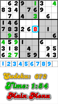 10000 Sudoku screenshot 1