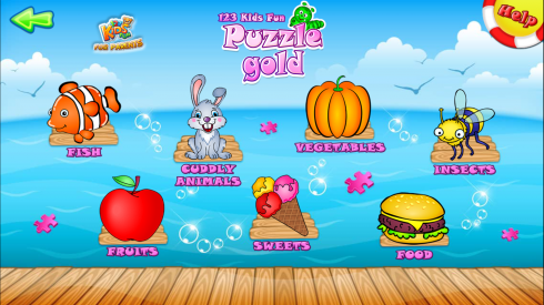 123 Kids Fun PUZZLE GOLD - Free Educational Jigsaw Puzzle Game  screenshot 1