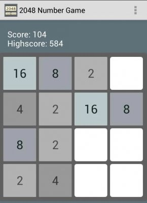 2048 Puzzle Game - Fibonacci screenshot 1