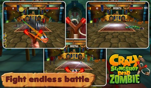 3D Crazy Slingshot Dead Zombie screenshot 2