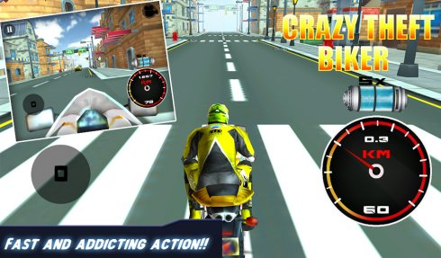3D Crazy Theft Biker screenshot 1