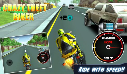 3D Crazy Theft Biker screenshot 2