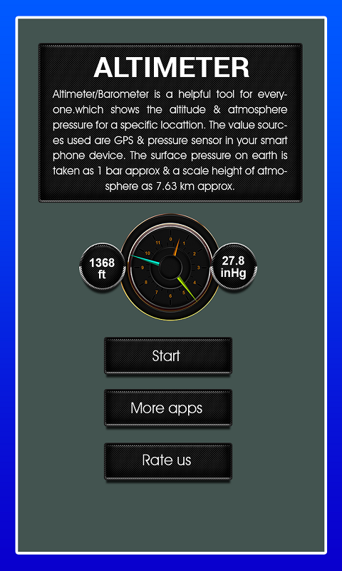 Accurate Altitude measurement screenshot 1
