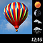 Air Balloon Weather and Clock