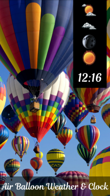 Air Balloon Weather and Clock screenshot 1
