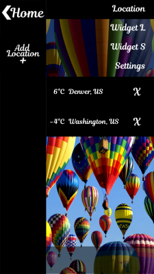 Air Balloon Weather and Clock screenshot 2