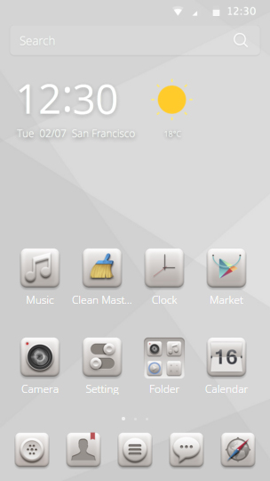 Alba Theme for CM Launcher screenshot 1