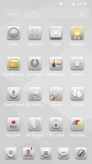 Alba Theme for CM Launcher screenshot 2