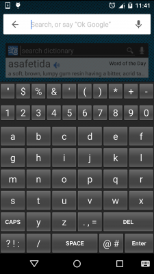 Alphabetical Keyboard English screenshot 1