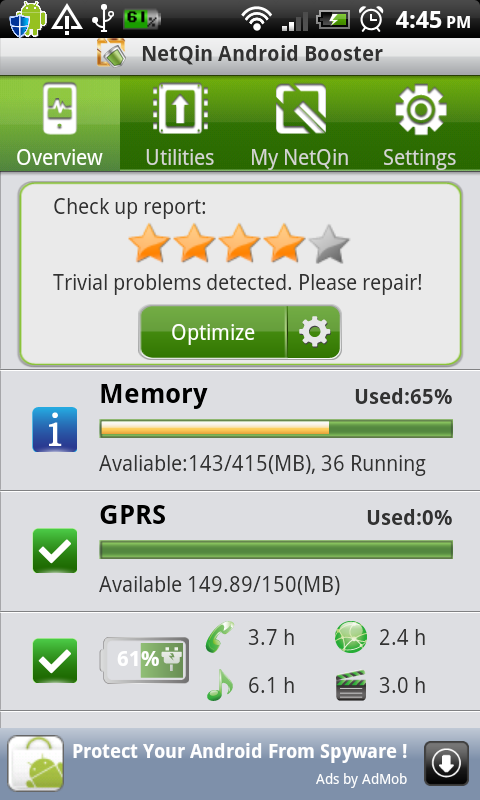 Android Booster New version screenshot 1