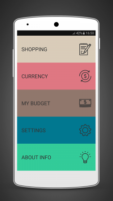Andronizer - Shopping List, Wallet and Currency screenshot 1