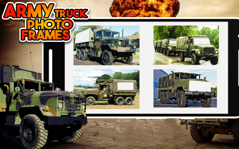 Army Truck And Army Vehicle Photo Frame screenshot 1