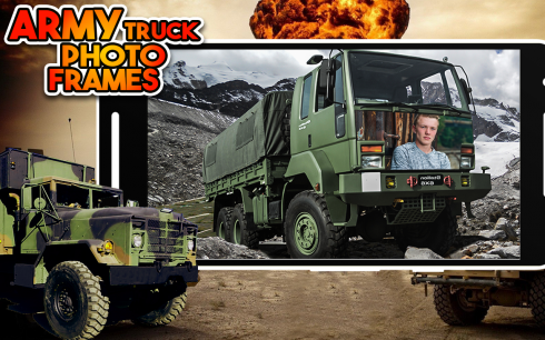 Army Truck And Army Vehicle Photo Frame screenshot 2
