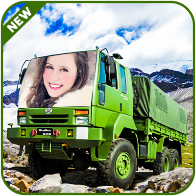 Image of Army Truck Photo Frame - Army Vehicle Photo Frame