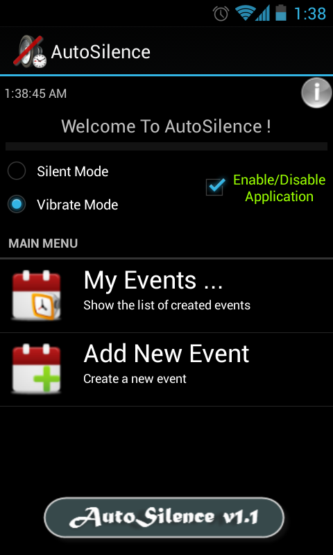 AutoSilence screenshot 1