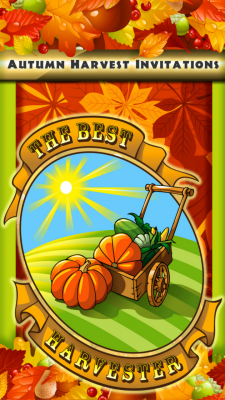 Autumn Harvest Invitations screenshot 1