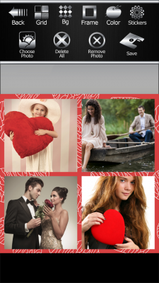 Awesome Romantic Photo Collage screenshot 2