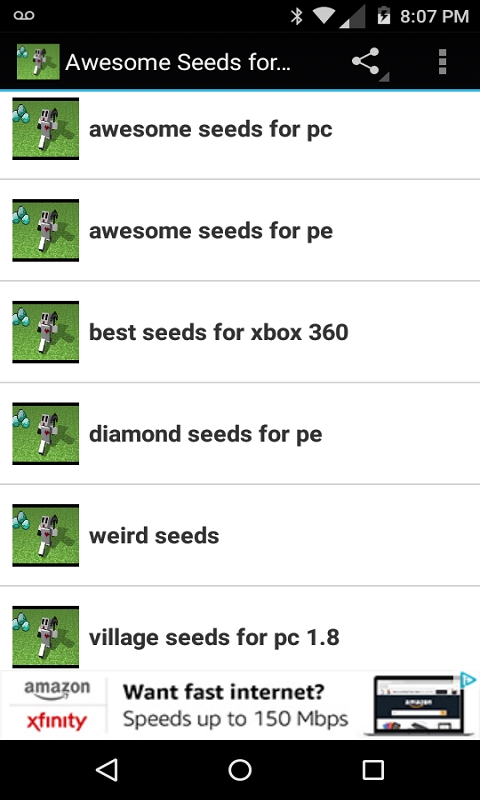 Awesome Seeds for Minecraft screenshot 1