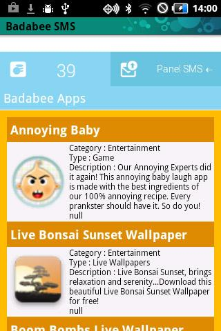 Badabee - Send SMS for Android - Download