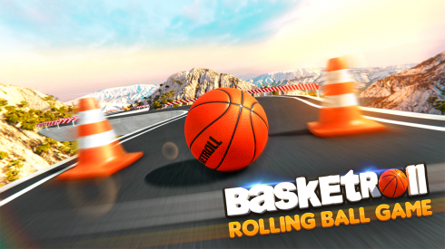 BasketRoll Rolling Ball Game screenshot 1