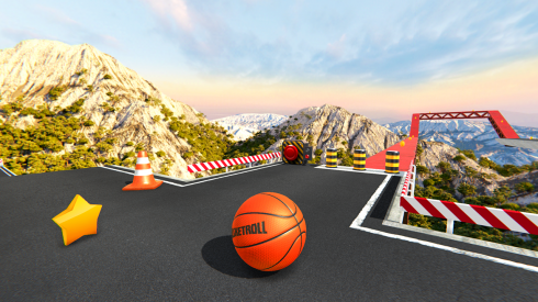 BasketRoll Rolling Ball Game screenshot 2