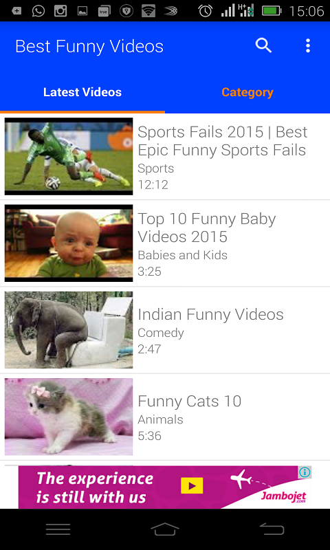Image of: Tube Best Funny Videos Screenshot Android Freeware Best Funny Videos App Download