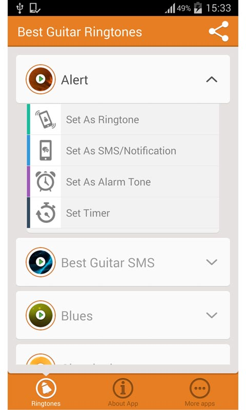 best guitar ringtones android app free apk by superiorringtones. Black Bedroom Furniture Sets. Home Design Ideas