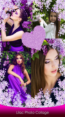 Best Lilac Photo Collage screenshot 1