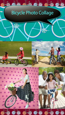 Bicycle Photo Collage Free screenshot 1