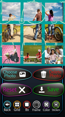 Bicycle Photo Collage Free screenshot 2