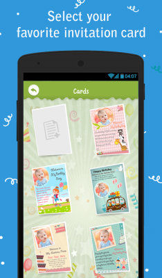 Birthday party invitation free apk android app android freeware download birthday party invitation stopboris Gallery