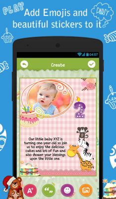 Birthday party invitation free android app android freeware download birthday party invitation free for your android phone stopboris Gallery